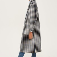 Checked Side Split Coat | Topshop