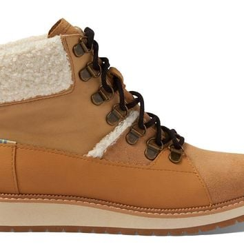 TOMS - Women's Mesa Waterproof Desert Tan Suede Leather Boots