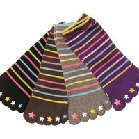"""Color Stars"" 5 Toe Socks"