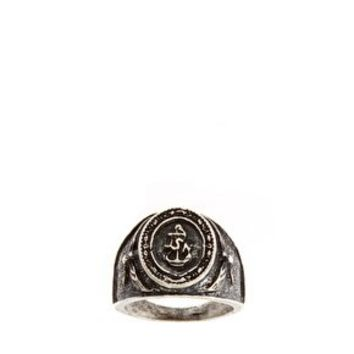 ASOS Navy Emblem Ring