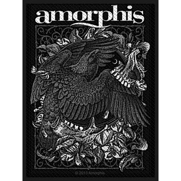 Amorphis Men's Circle Bird Woven Patch Black