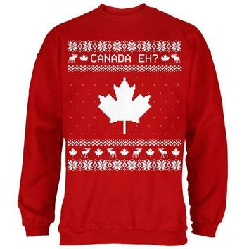 PEAPGQ9 Canadian Canada Eh Ugly Christmas Sweater Mens Sweatshirt