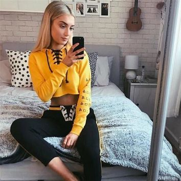 Women's Fashion Autumn Hot Sale Crop Top Long Sleeve Hoodies [1414816923745]