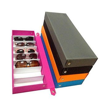 8 Grid Sunglass Glasses Storage Case Eyeglasses Display Glasswear Box Tidy Tool 09WG