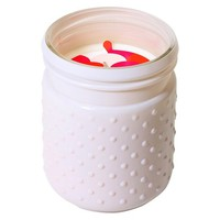 Hobnail Glass Candle Pink Magnolia 16.8oz - Soho Brights