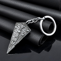 New 2015 Movie Star Wars  Destroyer Ship Model Metal Pendant Key Chain keyring for fans Keychain men Gift Free shipping