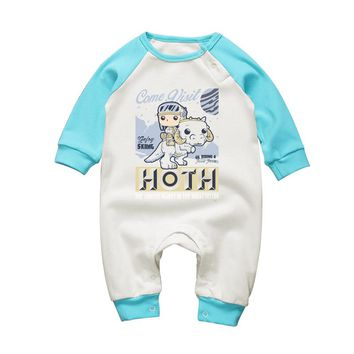Baby Boys Clothing Star Wars Cartoon Baby Girls Clothes Infant Winter Rompers Long Sleeve Cotton Newborn Babies Jumpsuits Oufits