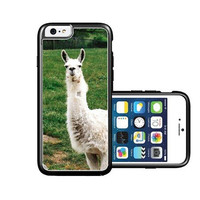RCGrafix Brand White Llama On Grass iPhone 6 Case - Fits NEW Apple iPhone 6