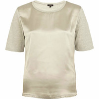 Grey satin front t-shirt - plain t-shirts / tanks - t shirts / tanks / sweats - women