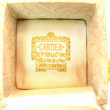 Antique Vintage Cartier Ring Box, Elegant Presentation or Display Box, Perfect for Engagement Ring