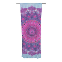 "Iris Lehnhardt ""Grunge Mandala"" Purple Blue Decorative Sheer Curtain"