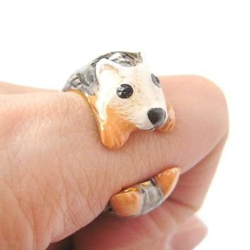 3D Baby Hedgehog Porcupine Shaped Enamel Animal Ring in US Size 6 and 7 | Limited Edition