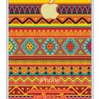iZERCASE Colorful Aztec Pattern rubber iphone 4 case - Fits iphone 4 & iphone 4s
