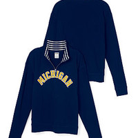 University of Michgan Boyfriend Half-Zip - PINK - Victoria's Secret