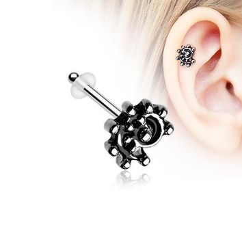 Ambro Swirl Filigree Icon Piercing Stud with O-Rings
