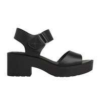 Lipstik Shoes - Drill Sandal - Black