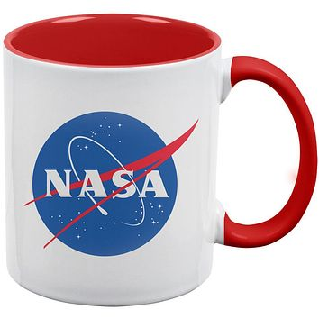 NASA Logo Red Handle Coffee Mug