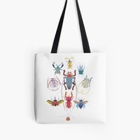 'Stitches: Bugs' Tote Bag by VrijFormaat