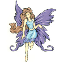 No. 5 Mythical Fairy Temporary Tattoo 2.5x3.5