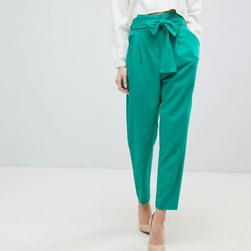 ASOS Tailored Paperbag PANTS in Pop at asos.com