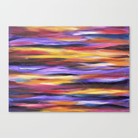 Purple Waves Canvas Print by mariameesterart