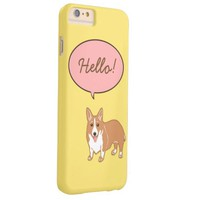 Corgi Says Hello Yellow iPhone 6 Plus Case