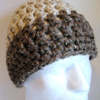 Mens Hat Beanie Crocheted Wool Chunky Acrylic and Lamb's Wool Gift for Him or Gift for Dad, Boy friend, Teen, Graduate