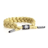 Rastaclat Gold Braided Shoelace Bracelet