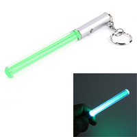 Hot Flash Torch Lightsaber Keychain LED Light Glow Wand Stick Pen Key Chain For Dropshipper