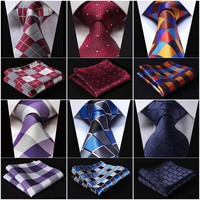 Classic Check Pattern Silk Necktie Set