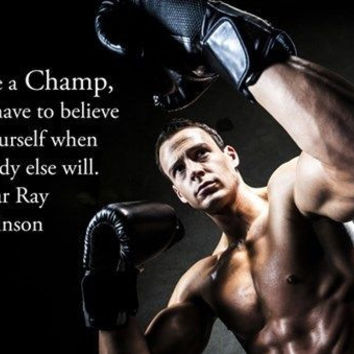 STRONG AGILE BOXER motivational poster FITNESS SPORTS champ quote 24X36