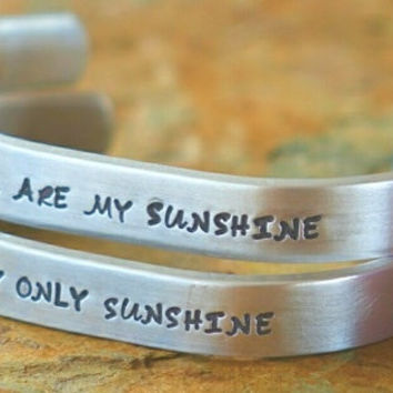 You are my Sunshine cuff Bracelets