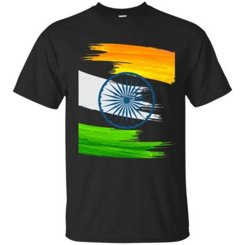 India Flag Tiranga Ashoka Chakra Independence T-shirt