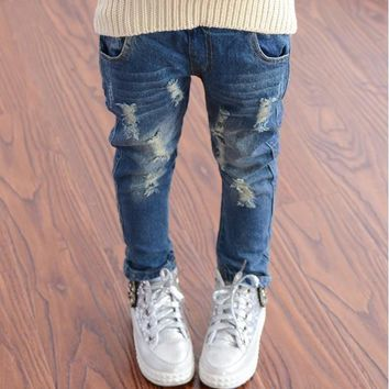 Boys Jeans Spring Washing Toddler All Match