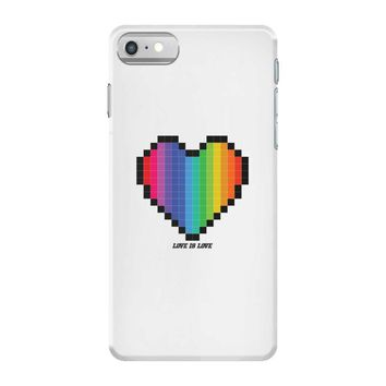Love Is Love Lgbt Rainbow Heart iPhone 7 Case