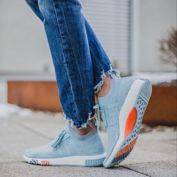 Adidas NMD Trending Women Casual Outdoor Sport Running Shoe Sneakers Light Blue I