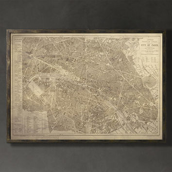 Map Print, PARIS