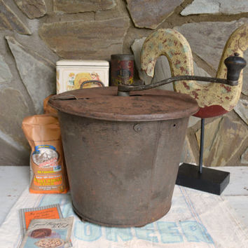 Antique Kitchen Tool - 1906 RARE Primitive Kitchen Utensil - Rustic Crank Breadmaker -   Antique Primitive Kitchen by Vintassentials