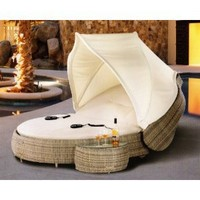 Marcotte Luxury All Weather Wicker Patio Furniture Day Bed/Chaise Lounge