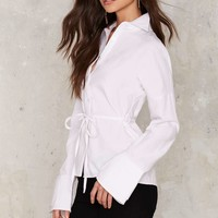 Full Moon Tie Blouse