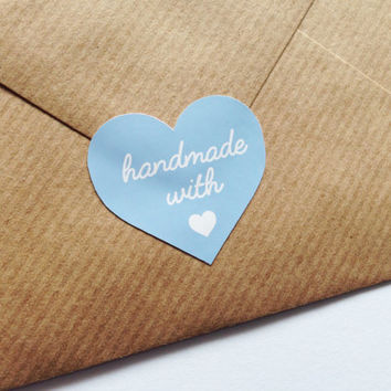 Handmade With Love Stickers Handmade Business Stationery Stickers