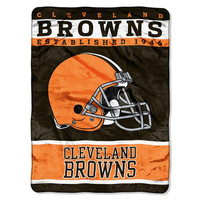 Cleveland Browns NFL Royal Plush Raschel (12th Man Series) (60in x 80in)