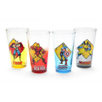 Avengers 4 pack Pint Glass Set