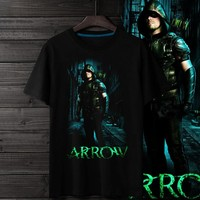 new arrive Mens Green Arrow T shirt Spring And Summer Clothing t shirts