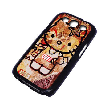 OBEY HELLO KITTY Samsung Galaxy S3 Case Cover