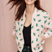 American Retro Oscar Quilted Bomber Jacket