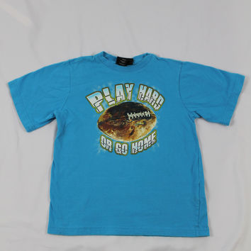 "Boys Athletec ""Play Hard or Go Home"" Short Sleeve Top, size 6/7"