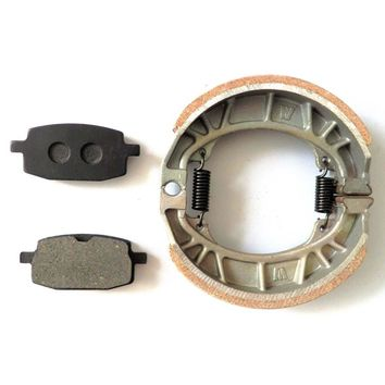 Motorcycle Rear Brake Disc Pads + Drum Brake Shoes Set  For  GY6 49CC 50CC Scooter Moped TAOTAO Parts