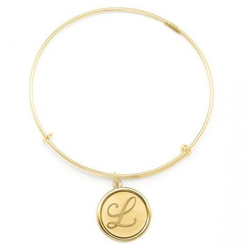 Alex and Ani Precious Initial L Charm Bangle - 14kt Gold Filled