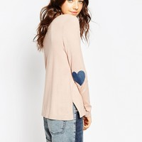 ASOS Sweater With Heart Elbow Patch